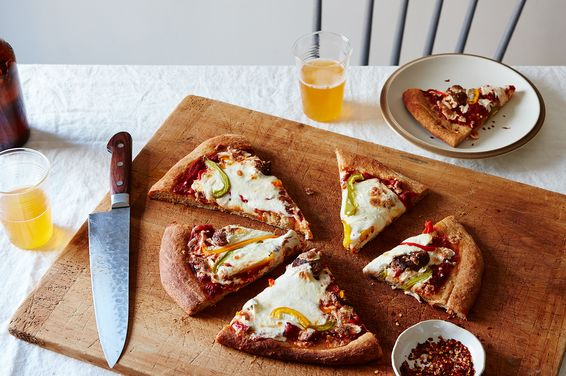 Feeeb646 2911 45c4 9cb3 d6fac2a77030  2016 0607 pizza with beer dough bell peppers and italian sausage mark weinberg 380