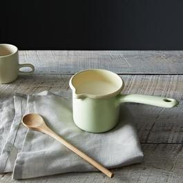 Green Enamel Milk Pot