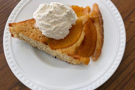 Peach Chai Snack Cake