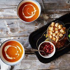 Roasted Tomato BLT Soup
