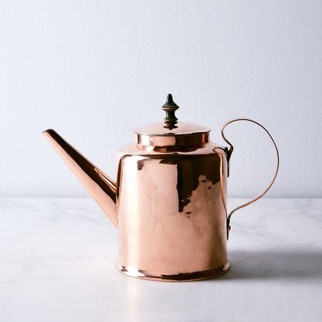 Vintage Copper Large Scandinavian Teapot, Mid 19th Century