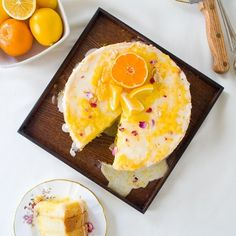 Olive Oil Chiffon Cake with Meyer Lemon Curd