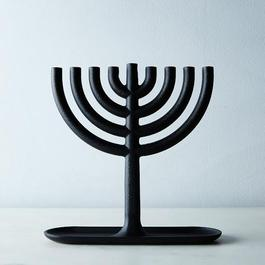 Blackened Cast Iron Menorah