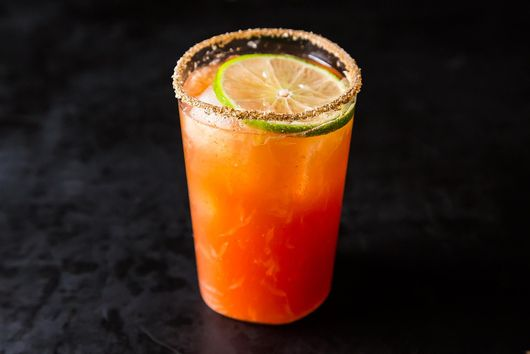 Zingy Michelada With Celery Salt