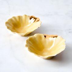Gold-Dipped Pinch Bowls (Set of 2)