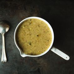 Broccoli, Lemon, and Parmesan Soup