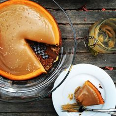 { pumpkin cheesecake + salted caramel }