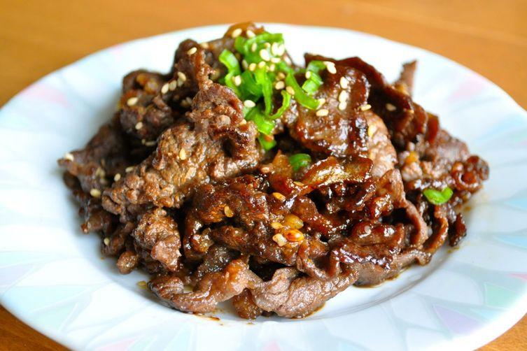 Bulgogi with Sesame seeds and oil