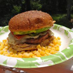 Cluck 'n Moo Fajita Burger