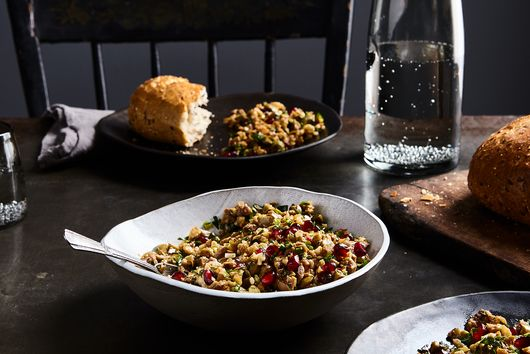 Paula Wolfert's Cracked Green Olive, Walnut, and Pomegranate Relish