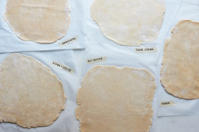 Pie dough carpets.