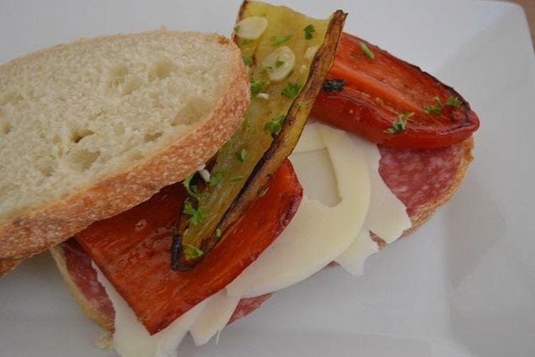 Sweet Hot Fried Pepper Sandwich