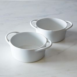 Pillivuyt Eden Individual Casseroles, White (Set of 2)
