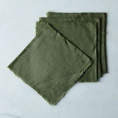 Linen Buttonhole Napkins (Set of 4)