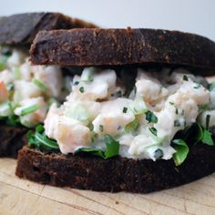 Creamy Tarragon Shrimp Salad Sandwiches