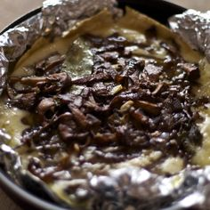 Baked Brie with Caramelised Onions and Wild Mushrooms
