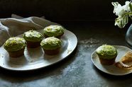 Zucchini Cupcakes with Lemon-Dill Frosting