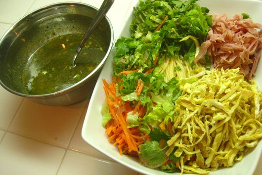 Korean cold noodle salad