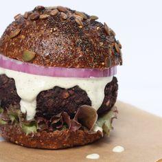 Mushroom Beet Black Bean Burger
