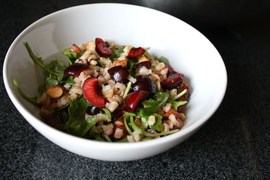 Cherry Almond Farro Salad