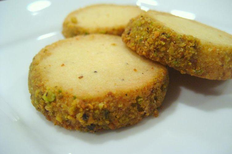 Cardamom-Pistachio Shortbread Cookies
