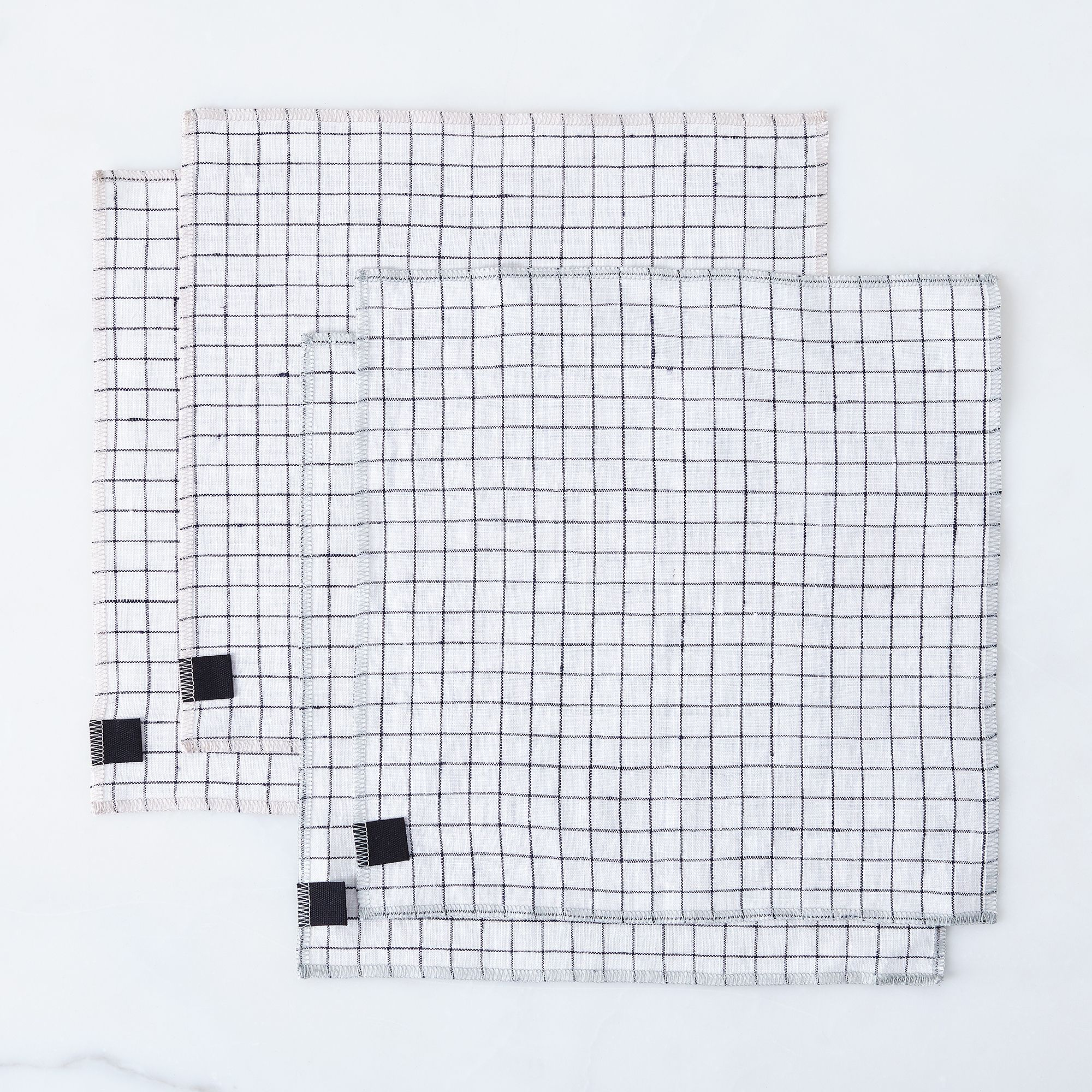 6243bda3 9dbb 4535 8e84 3dfe77662d4d  2016 0729 the everyday co windowpane check linen napkins set of 4 silo rocky luten 172
