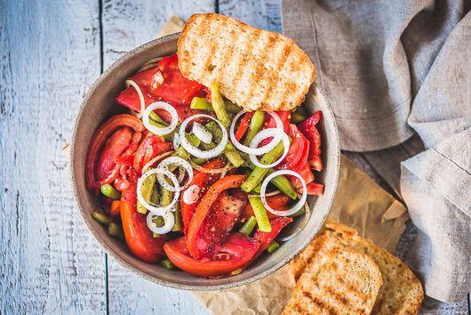 Italian Green Beans Tomato Salad