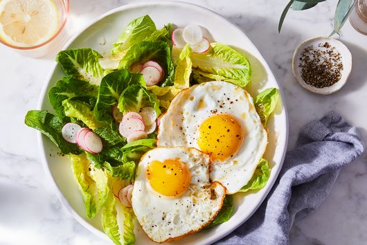 Little Gem Salad With Fish Sauce Vinaigrette & Fried Eggs