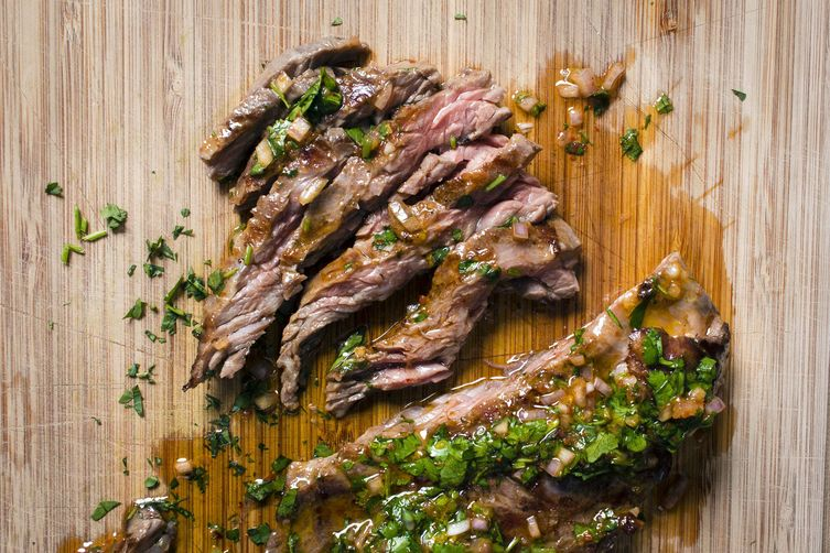 Harissa Chimichurri Skirt Steak