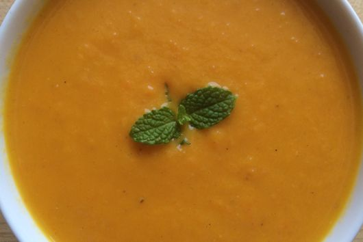Very Cool, Delightfully Gingery Carrot Soup
