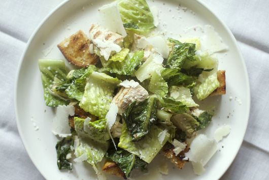 Grilled and Chopped Chicken Caesar Salad