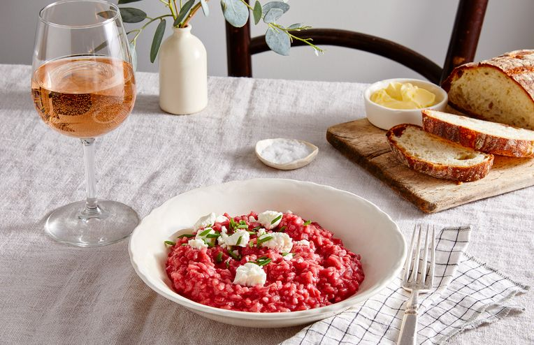 A Cheesy Beet Risotto That's *Almost* Too Pretty to Eat