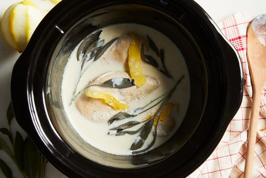 Slow-Cooker Chicken Breasts With Lemon, Sage & Milk
