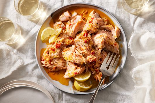 Tangy Baked Salmon With Calabrian Chile
