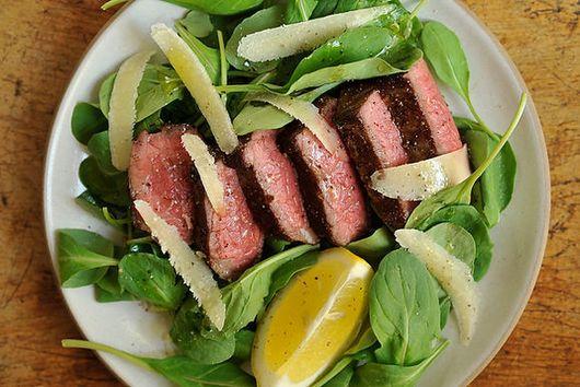 Dinner Tonight: Steak with Arugula + Greek Mahogany Potatoes
