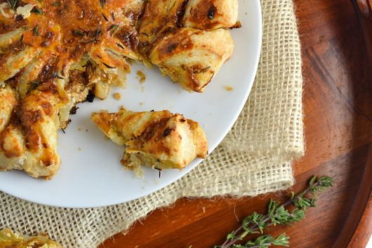Caramelized Onion & Ricotta Tarte Soleil