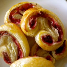 Cranberry Cream Cheese Palmiers
