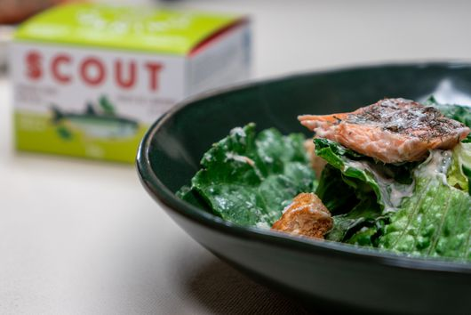 Trout Caeser Salad