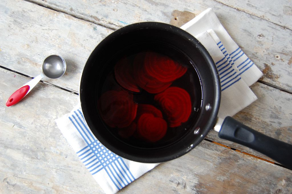 beet dye for pink eggs