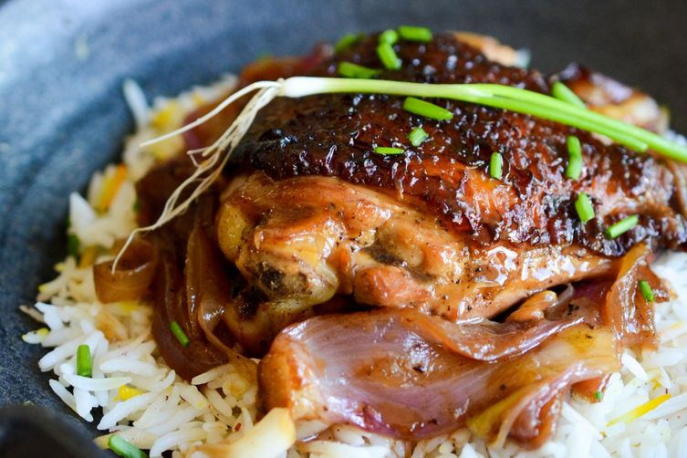 Braised Chicken in Soy Ginger Lemon sauce