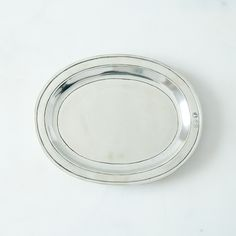 Small Oval Pewter Tray