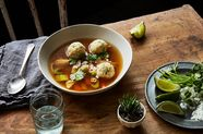 Mexican Matzo Ball Soup with Chipotle and Lime