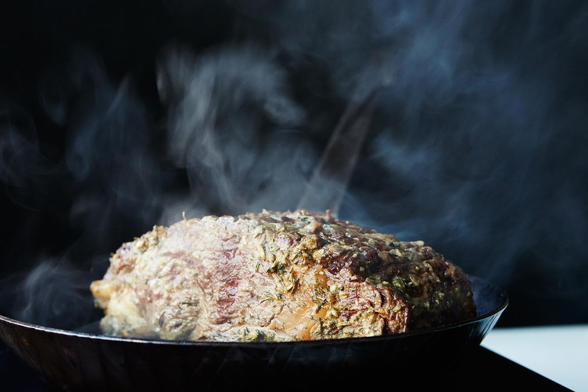 Prime Rib with Mustard and Herb Butter - Genius Holiday Recipes