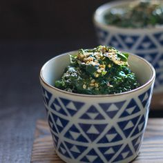 Goma-ae: Kale with sesame sauce