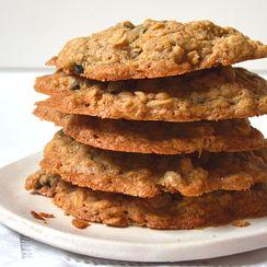 Easy Brown Sugar Oatmeal Cookies w/ Dried Blueberries ~ Moist & Chewy