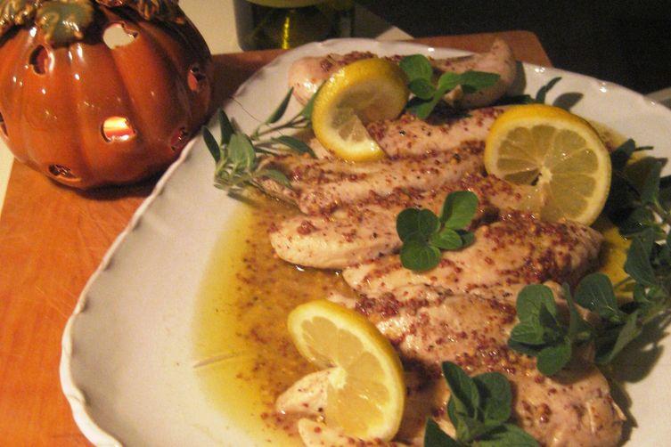 Maggie's Chicken Tenders with Savory Mustard Glaze