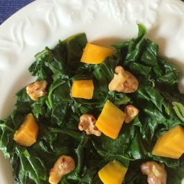 Beet Greens and Chard with Two Kinds of Beets and Buttery Toasted Walnuts