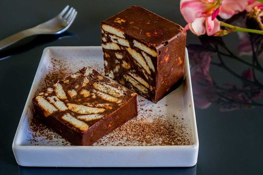 chocolate and biscuit blocks