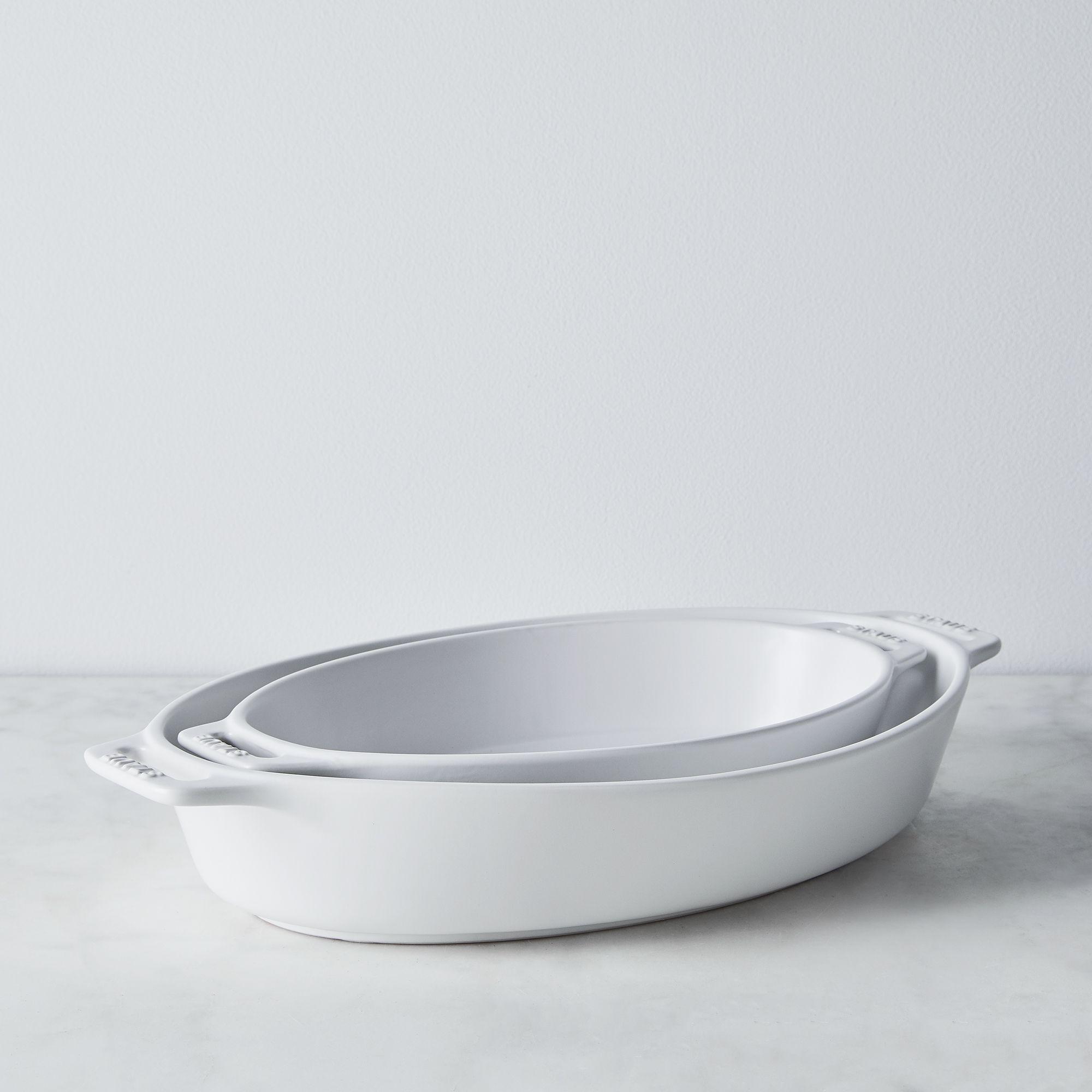 ZWILLING J.A. Henckels Staub Matte Ceramic Oval Baking Dish - Matte White, Set of 2