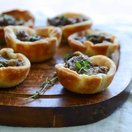 savory mushroom tartlets